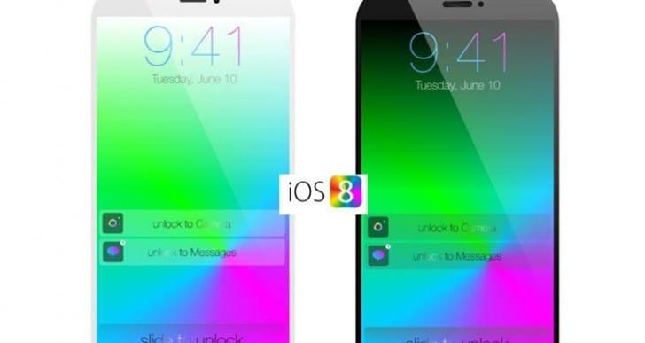 iOS 8 shown on iPhone 6 mini concept