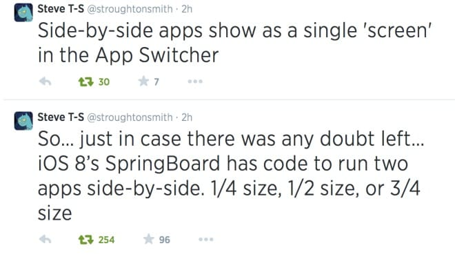 iOS 8 split screen