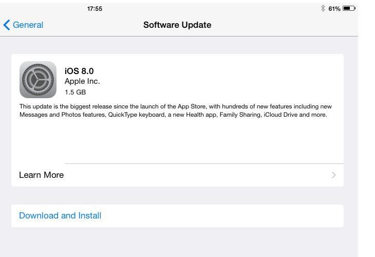 iOS 8 update keyboard issues hit iPad