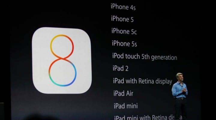 iOS 8 public release notes