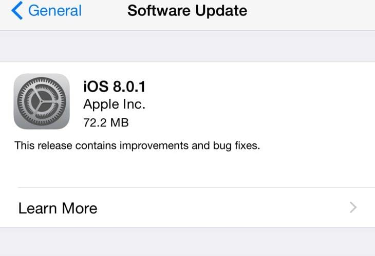iOS 8.0.1 downgrade after not working