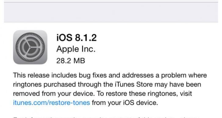 iOS 8.1.2 update fears over iPads becoming bricked