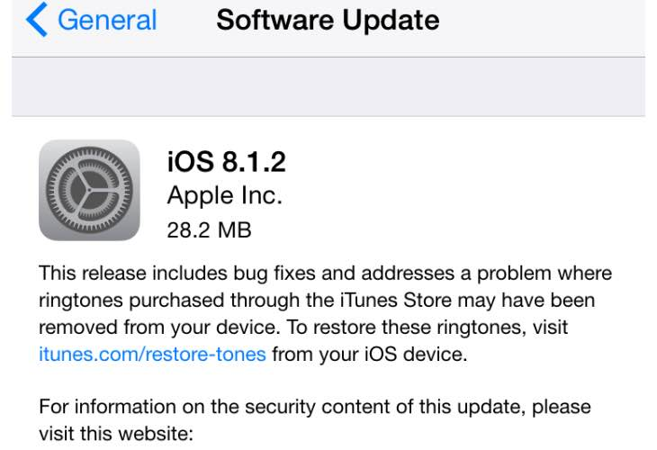 iOS 8.1.2 update fears over getting bricked