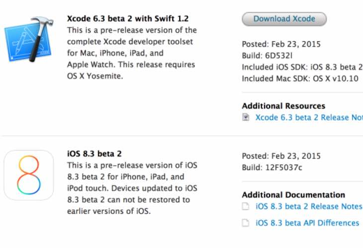 iOS 8.3 beta 2 download for iPad released, not OTA
