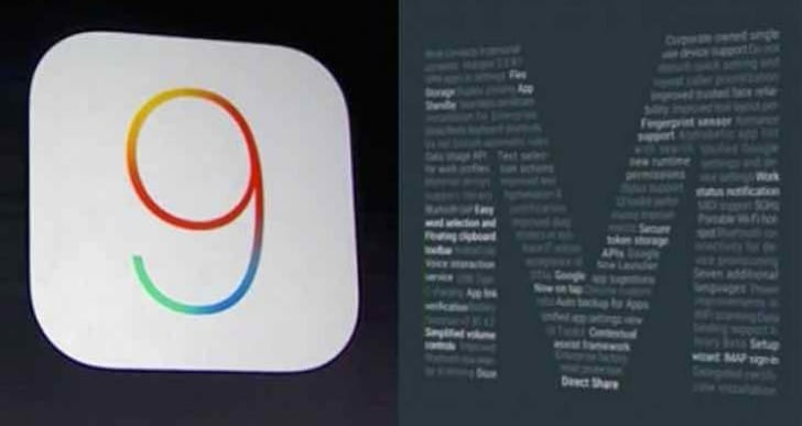 iOS 9 Vs Android M comparative reviews