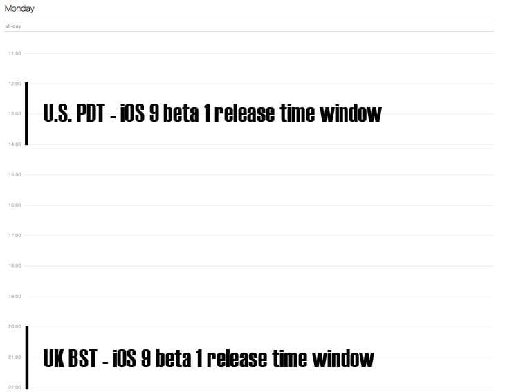 iOS-9-beta-1-release-time-window
