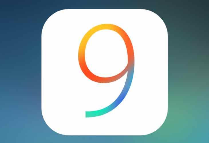 iOS 9 running on the iPad