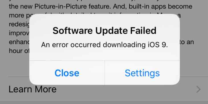 iphone wont update software ios 9 won t update ota only itunes 15567