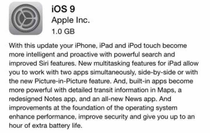 iOS 9 won't update
