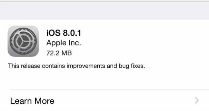 iOS 9.01 update issues highly unlikely