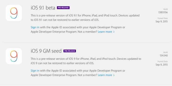 iOS 9.1 beta live
