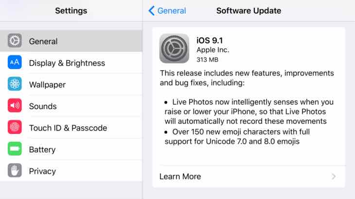 iphone update issues ios 9 1 problems after update product reviews net 2626