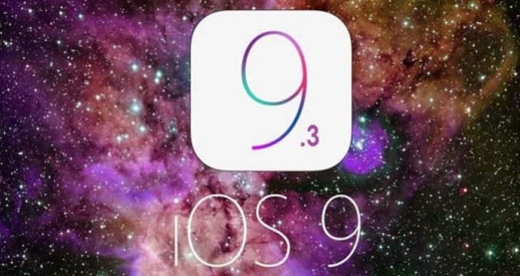 iOS 9.3 update release time today