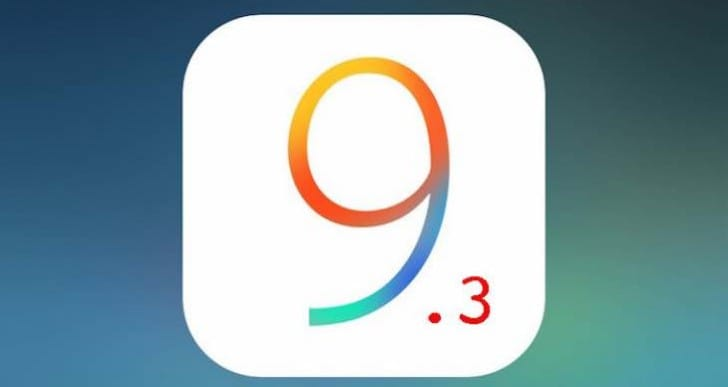 iOS 9.3 release time and notes expected for March 21