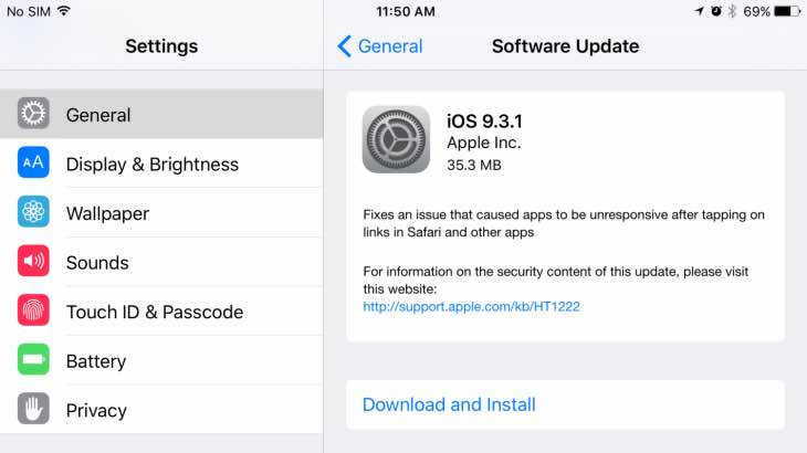 iOS 9.3.1 updates creates new problems