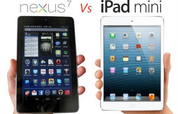 iPad 4, Nexus 7 lag behind mini