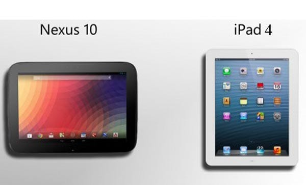 iPad 4 vs. Nexus 10 and Apple ecosystem