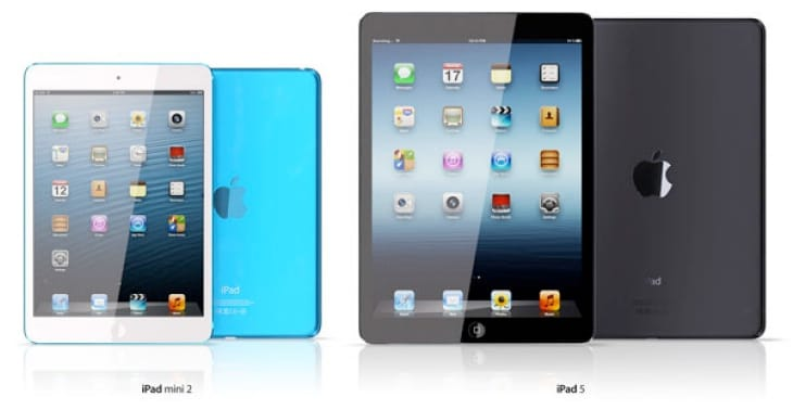Possible iPad mini 2 and iPad 5 designs