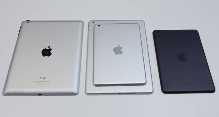 iPad 5 vs. iPad mini 2 from components