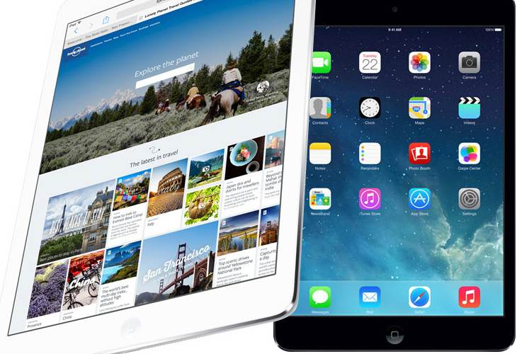 iPad Air 2 and mini 3 screen improvement for 2014