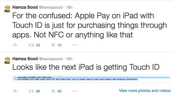 iPad Air Touch ID and Apple Pay