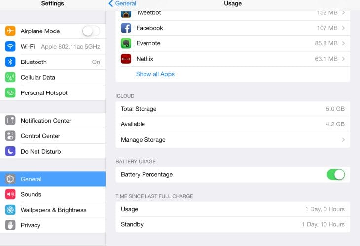 iPad Air iOS 8 battery drain after upgrade