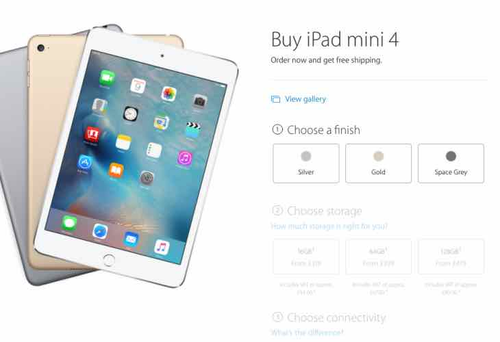 iPad mini 4 UK price and delivery details – Product ...