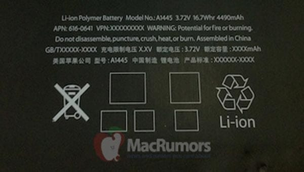 iPad mini battery life hinted in picture
