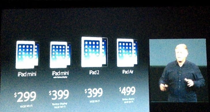 New iPad mini 2 with Retina, plus price drop
