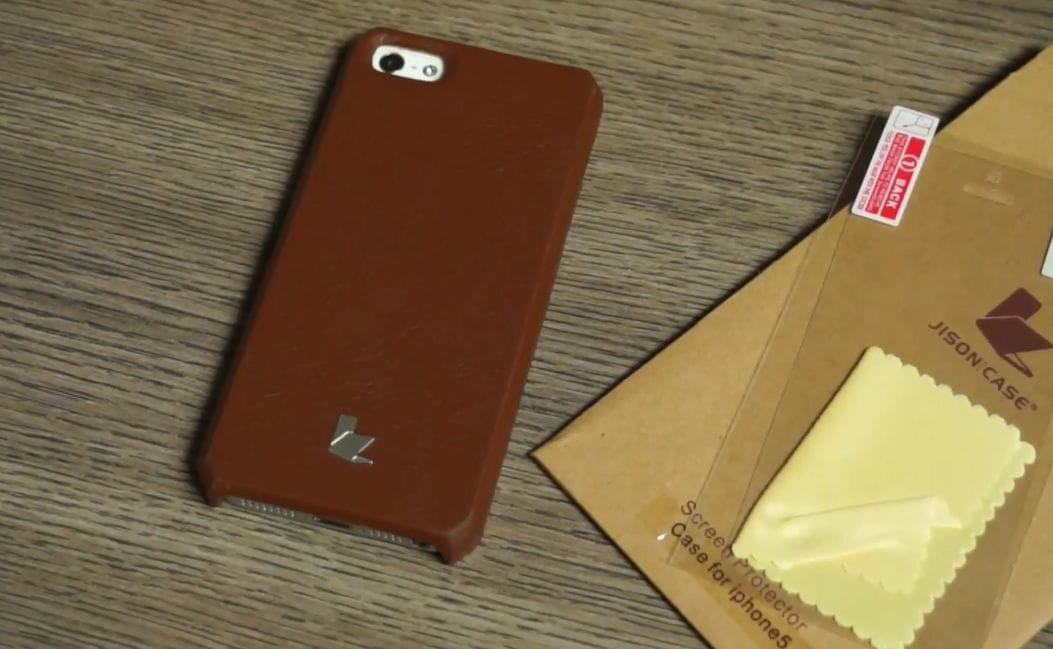 iPhone 5 credit card case by Jison in leather