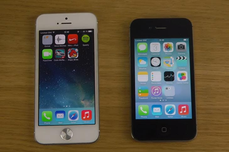 iPhone-5-vs-4S-iOS-7-Beta-2