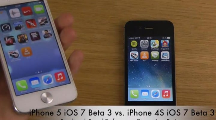 iPhone 5 vs. 4S in more iOS 7 tests, beta 4 confusion