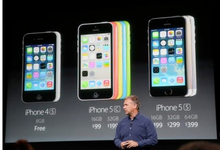 iPhone 5C and 5S pricing