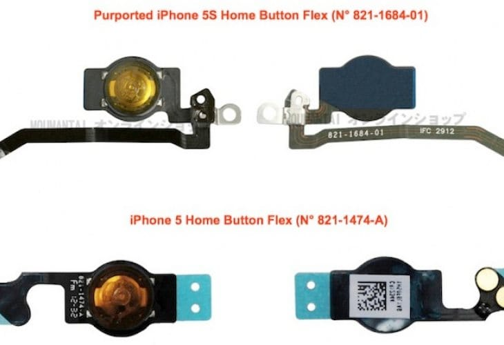 iPhone 5S components hint internal changes