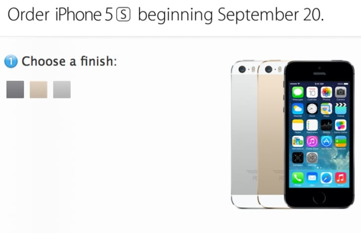 iPhone 5S order time for UK, USA