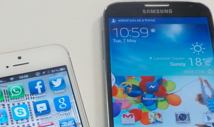 iPhone 5S strangely meets Galaxy Note 3