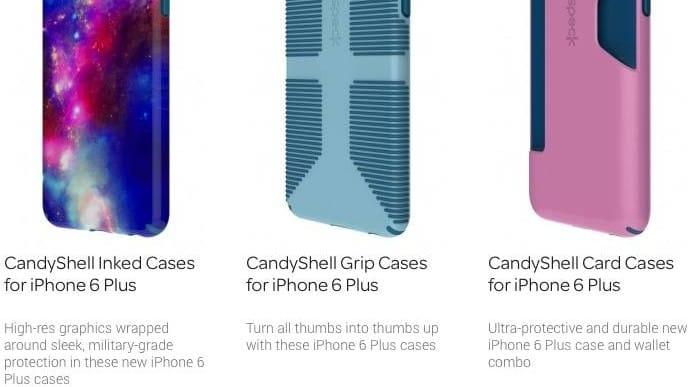 iPhone 6 Plus cases by Spigen, Speck and Incase