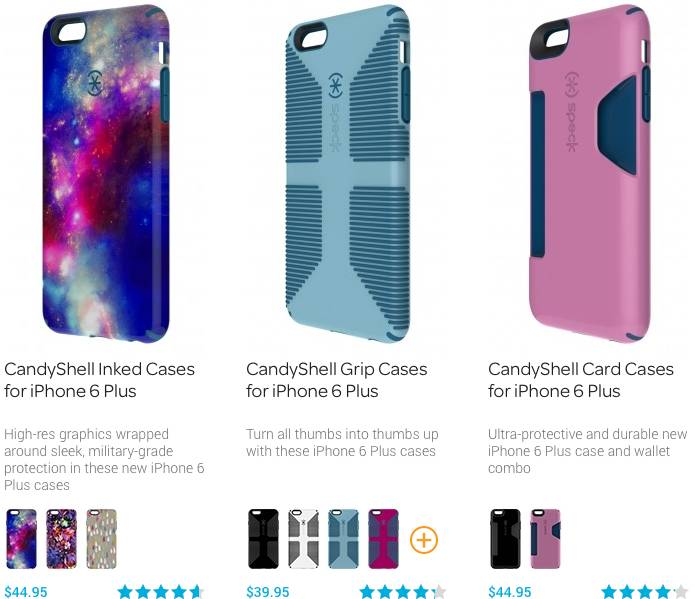 iPhone 6 Plus cases by Speck