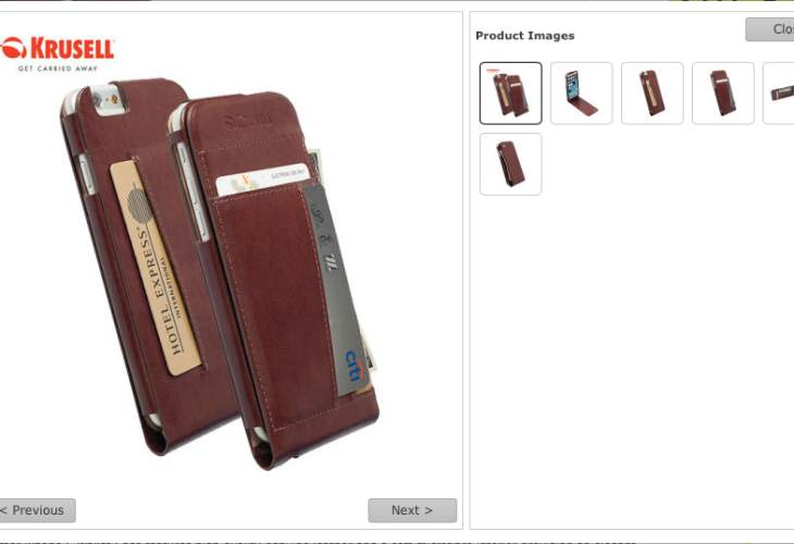 iPhone 6 leather wallet case by Krusell Kalmar
