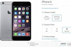iPhone 6 pre-order time in USA, UK