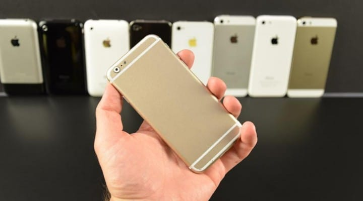 iPhone 6 vs. 5S, 5, and 4S in mock-based review