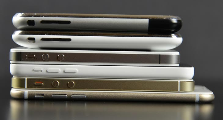 iPhone-6-vs-all-models-thickness