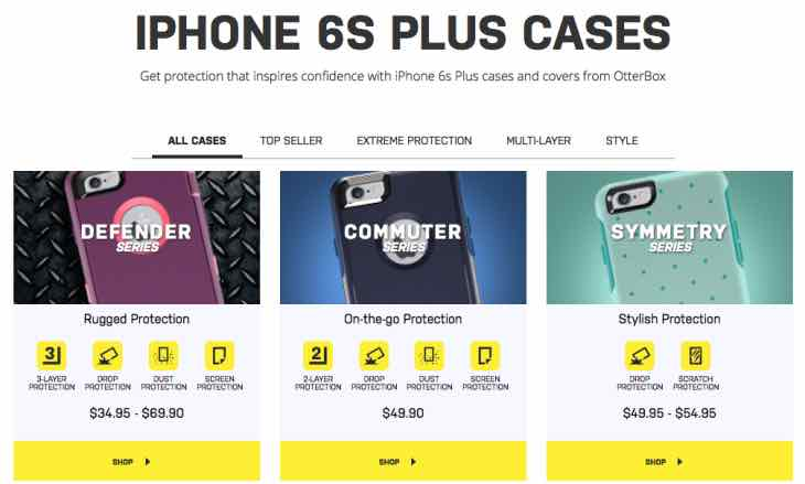 iPhone 6S Plus OtterBox cases