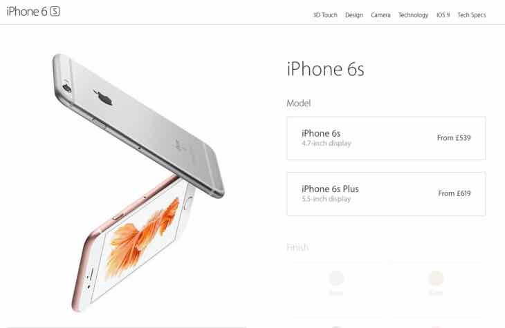 iPhone 6s shipping