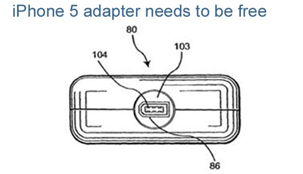 iPhone 5 adapter needs to be free