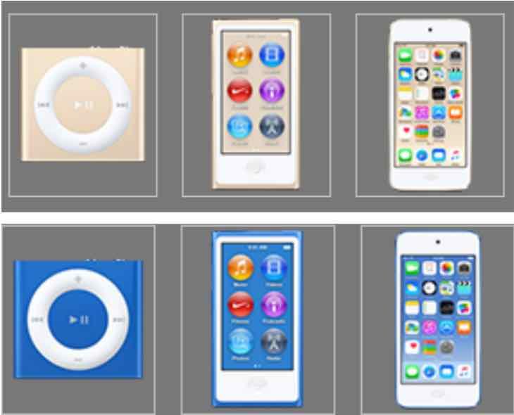 iPod 2015 lineup
