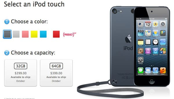 iPod touch 5G enters final stage