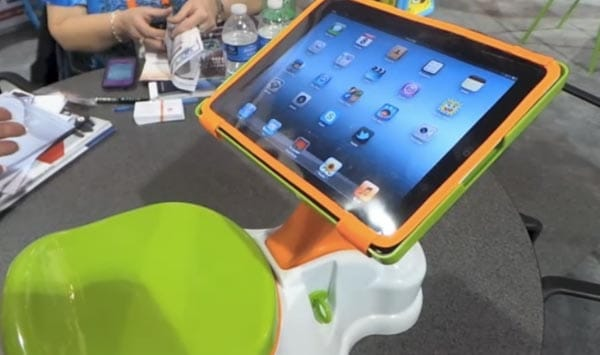 iPotty uses an iPad when potty training