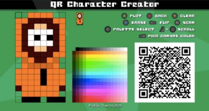 IDARB QR code shares for characters, songs