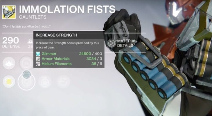 Super Auto Sales >> Destiny Immolation Fists review for Hammer of Sol ...